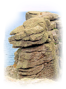 Guardian of the Isles, Pordenack Point, Land's End, Cornwall, UK